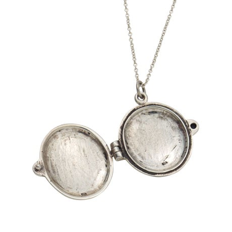 Sterling Silver Jane Austen Daughter, Sister, Friend Locket