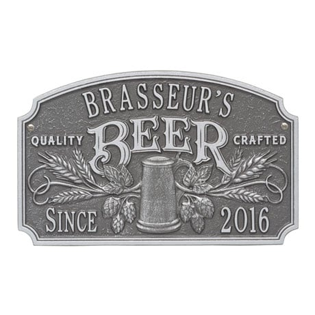 Personalized Quality Craft Beer Plaque