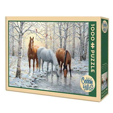 Winter Trio 1000 piece Puzzle by Outset Media Games