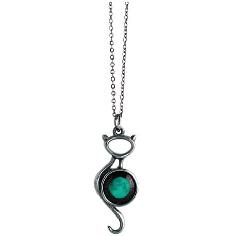 Cat on the Moon Moonglow Pendant - Full Moon