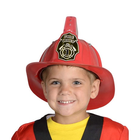 Personalized Jr Firefighter Helmet, Red with Siren & Light