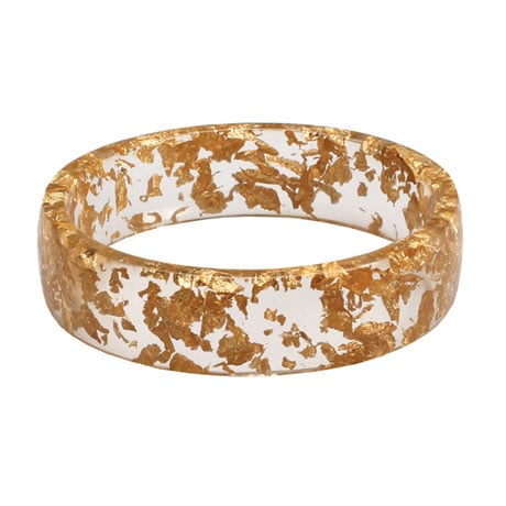 Gold Flecked Bangle Bracelet