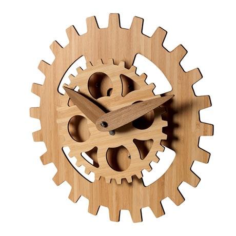 Bamboo Gears Wall Clock