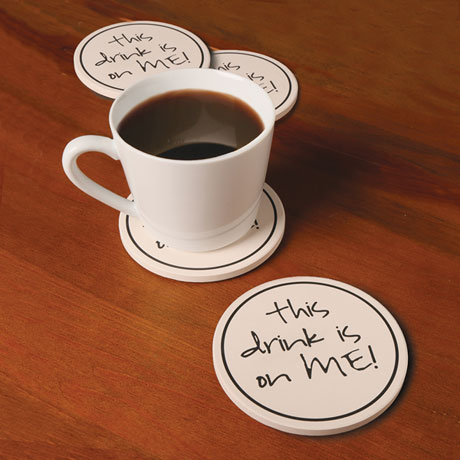 This Drink Is On Me Coasters Set