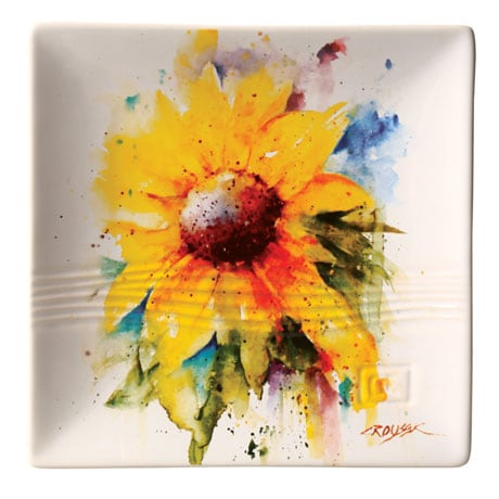 Dean Crouser Pansy Flower Snack Plate