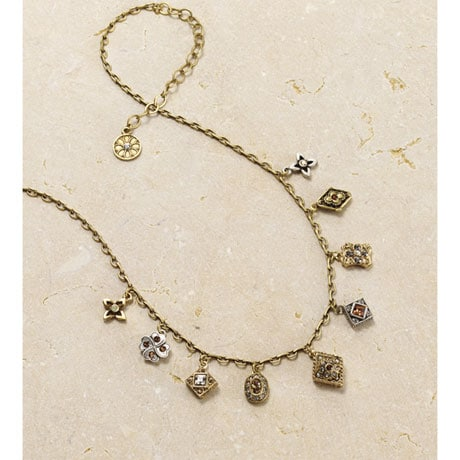 Bejeweled Victorian Charms Jewelry - Necklace