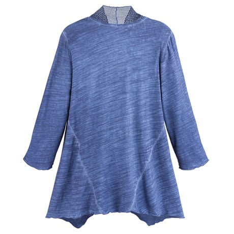 Denim Blue Knit Tunic