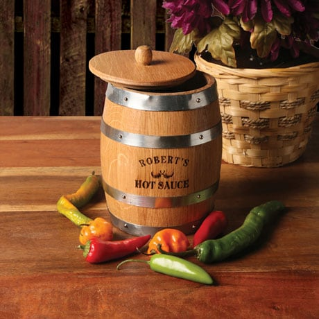 Personalized Hot Sauce Barrel