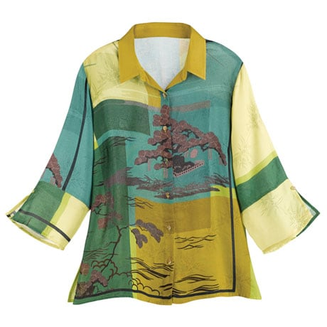 Japanese Garden Blouse