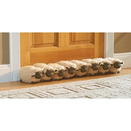 32' Decorative Sheep Door Draft Stopper Guard - Block Under Door Drafts