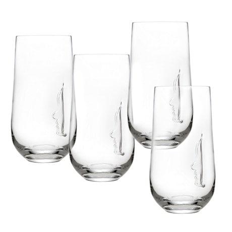 Silhouette Highball Glasses Set