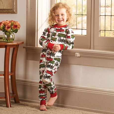 Children's Train Caboose Pajamas