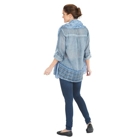 Mykenos Shirt and Scarf Set