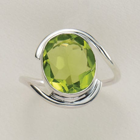 Peridot Glass Ring