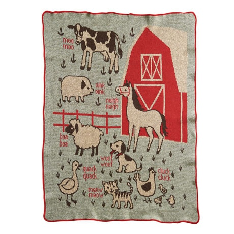 Farm Babies Throw