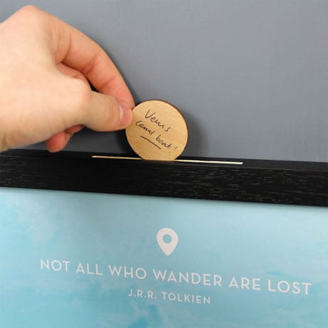 Personalized Wanderlist Box - A place to record dream destinations