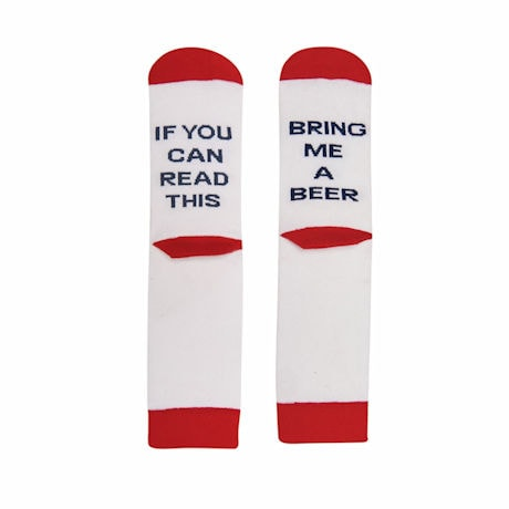 """If You Can Read This"" - Hidden Message Socks"