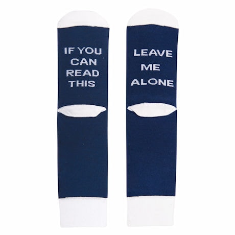 """""""If You Can Read This"""" - Hidden Message Socks"""