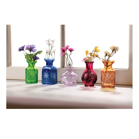 Petite Glass Bud Vases - Set of 5