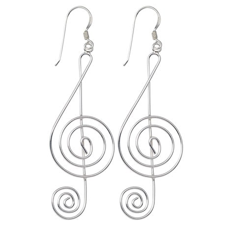 Graceful G-Clef Earrings
