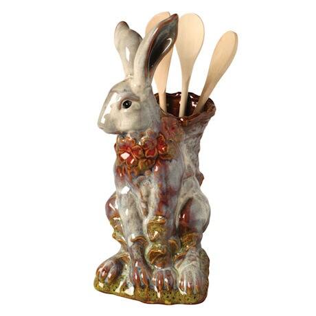Porcelain Rabbit Utensil Holder