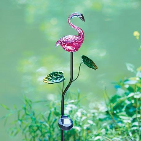 Pink Flamingo Solar Garden Stake at Signals   HX3846