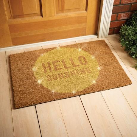 Hello Sunshine Light-Up Doormat