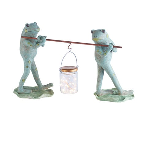 Frogs And Firefly Lantern Garden Sculpture ...