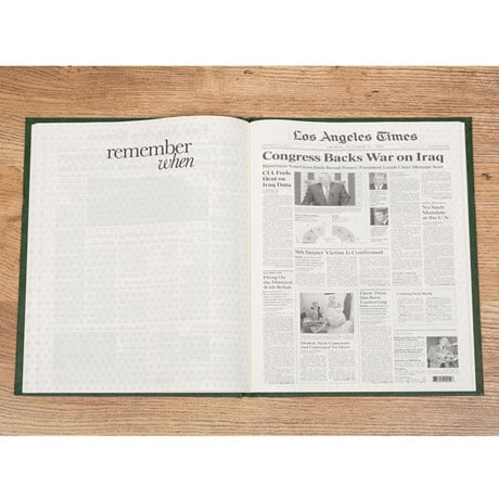 Commemorative Birthday Newspaper