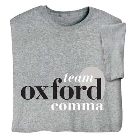 Team Oxford Comma Shirts