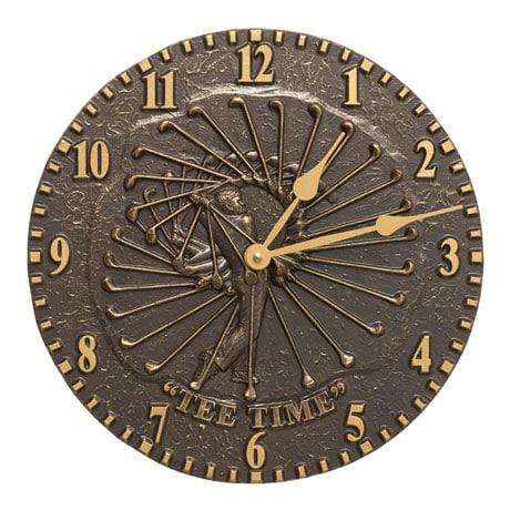 Tee Time Indoor/Outdoor Wall Clock