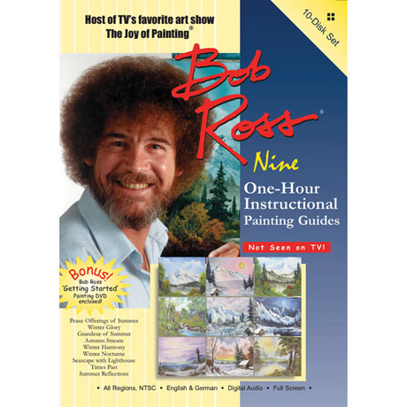 Bob Ross Joy of Painting Series: Ten One-Hour Instructional Guides 10 DVD Set