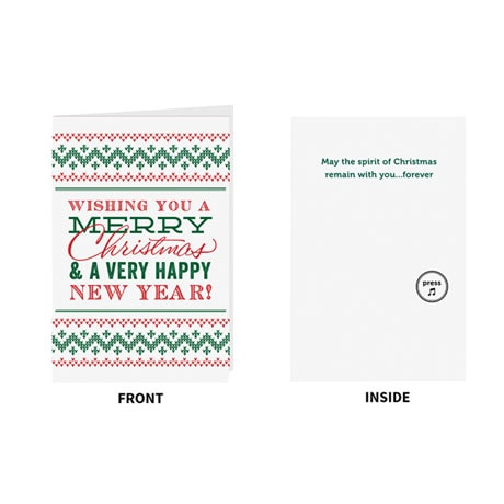 Endless Singing Christmas Joke Greeting Card