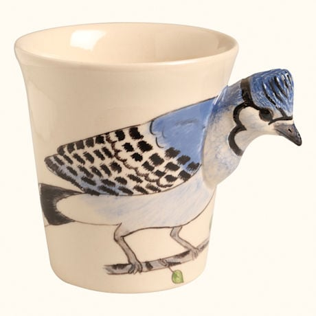 Hand Painted Songbird Mugs