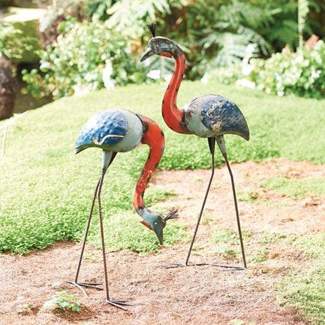 Crested Cranes Garden Art