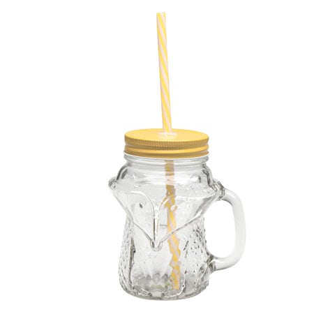 Fox Mason Jar Mugs