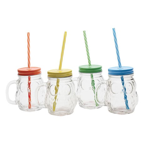 Owl Mason Jar Mugs