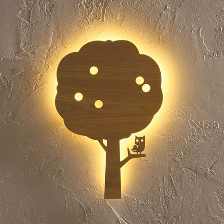 Owl in Apple Tree Wall Light