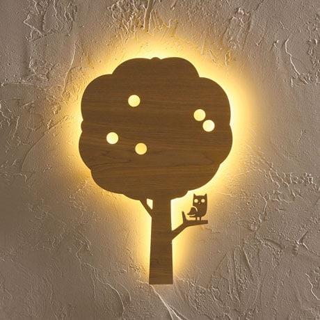 Owl in Apple Tree Wall Light