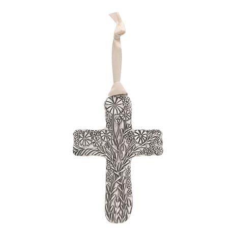 Pewter Gardener's Cross