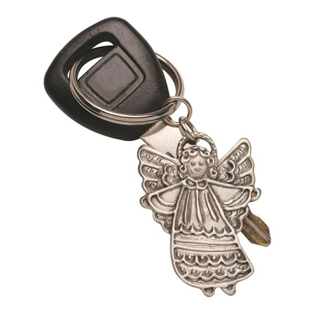 Pewter Angel Key Ring