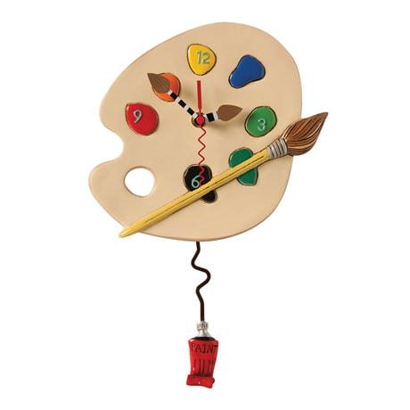 Painter's Palette Pendulum Clock