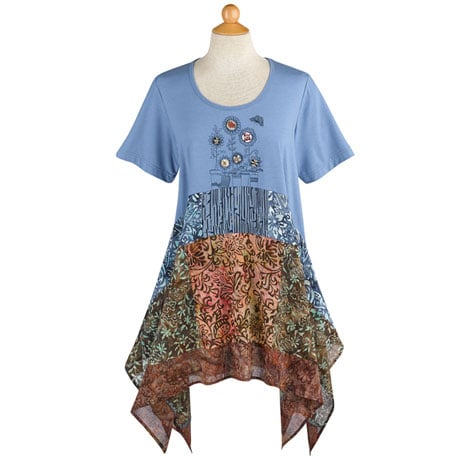 Blooming Buttons Tunic