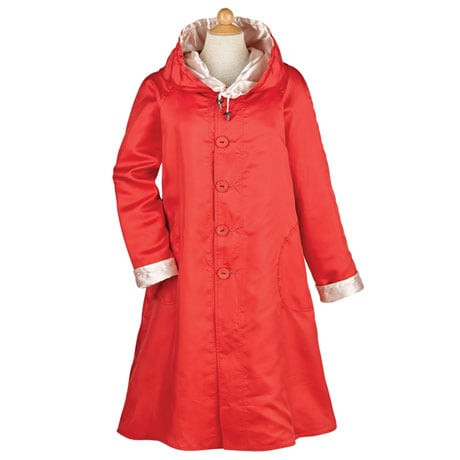 Reversible Poppies Raincoat