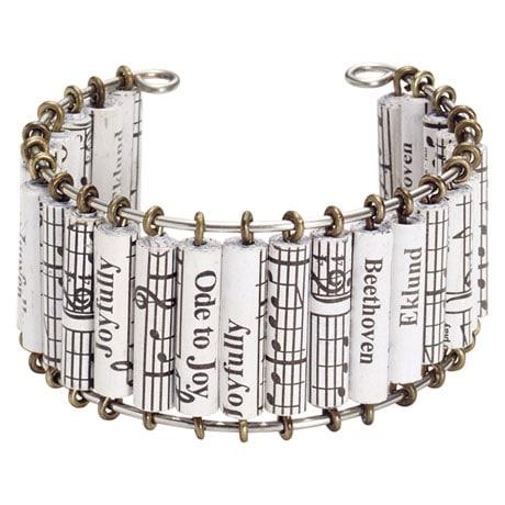 Ode to Joy Handmade Cuff Bracelet