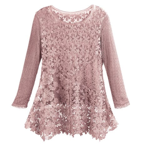 Vintage Garden Lace Tunic