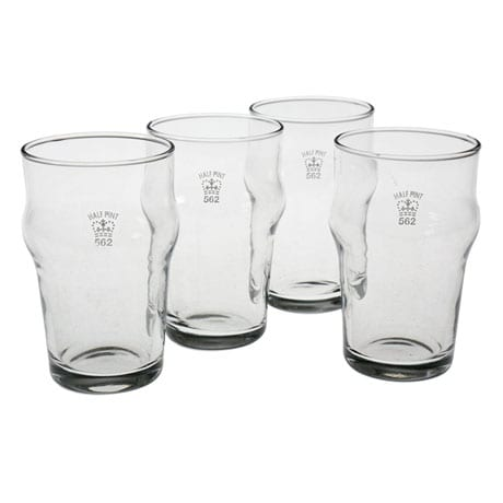 Authentic British Pub Glasses - Half-Pint