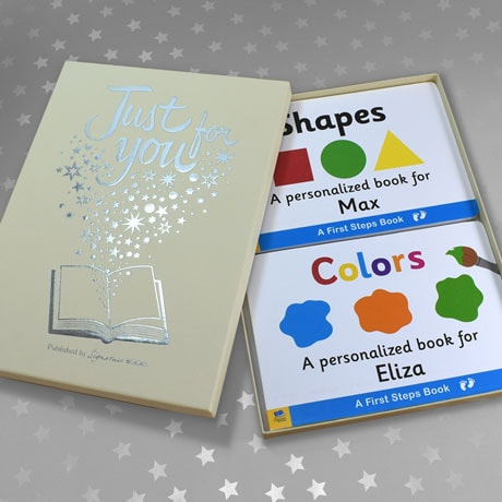 Personalized Learn Your Colors & Shapes Toddler Board Book Set
