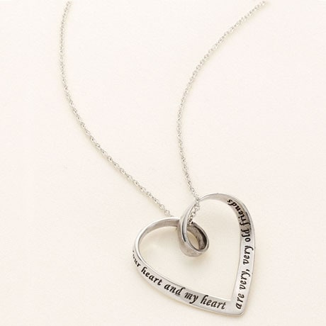 Your Heart and My Heart Are Very, Very Old Friends Mobius Necklace