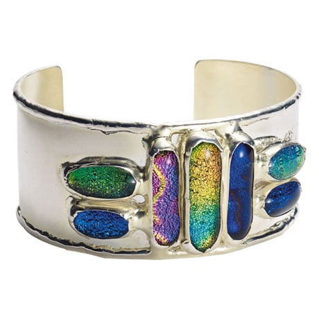 Glass Jewels Cuff Bracelet